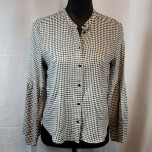 Madewell flannel checked Top size small